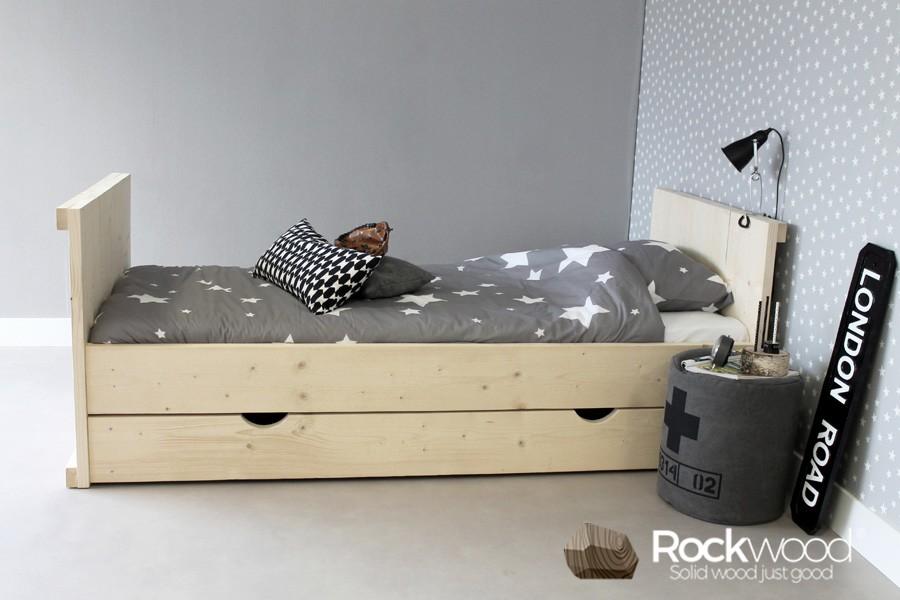 Kinderbed Met Extra Bed.Kinderbed Daan 90x200 Massief Steigerhout Rockwood